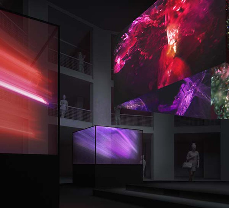Magnified Inclusions Become Galaxy-Like Structures in London's VOID Installation