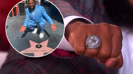 Anthony Anderson Shows Off His Hollywood Walk of Fame Ring on 'Ellen Show'